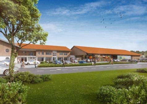 Neubau eines Büros im neuen Einkaufs- und Gewerbeanwesen, 83623 Dietramszell-Ascholding, Bürofläche